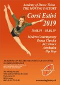 Corsi estivi 2019 Academy of dance Ticino The Moving Factory