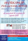 Workshop per giovani artisti agosto 2017